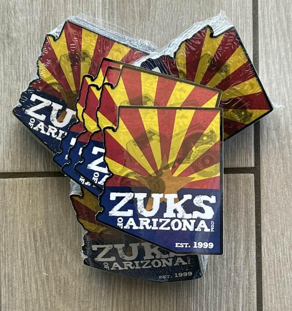 zuks of arizona stickers